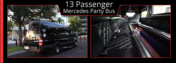 15 pasenger party bus